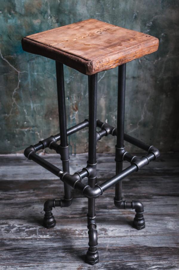 Барные стулья в стиле лофт своими руками 9